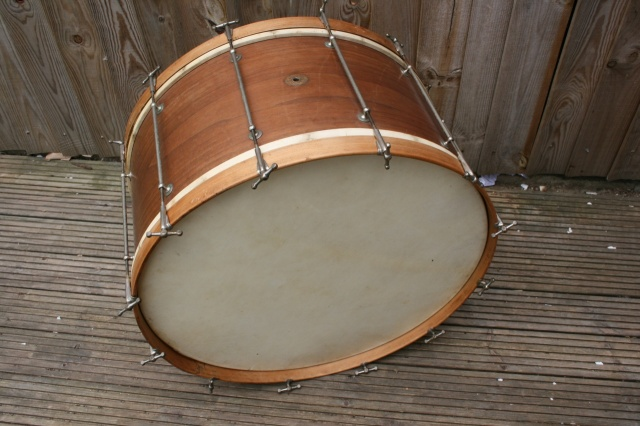 Slingerland Cloud Badge 1930's Mahogany Bass Drum