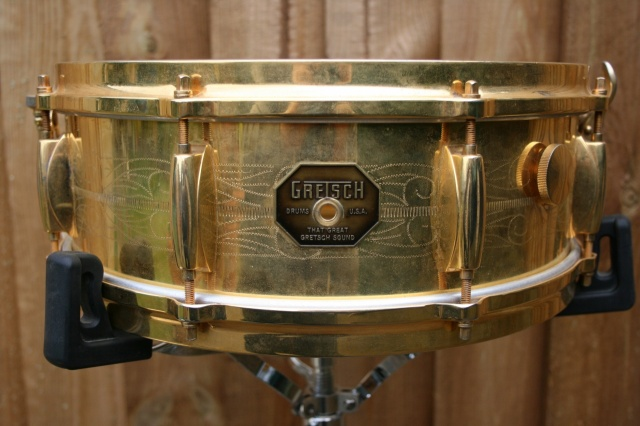 Gretsch Engraved 'Stop Sign' Gold Over Brass