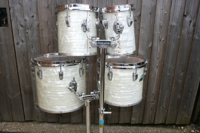 Ludwig 1980 Quadra Concert Tom Set