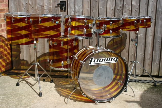 Ludwig '70's Vistalite 'Pattern C'  Big Beat Plus