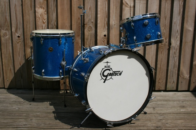 Gretsch 1960's Round Badge 'Progressive Jazz' Outfit in Blue Sparkle