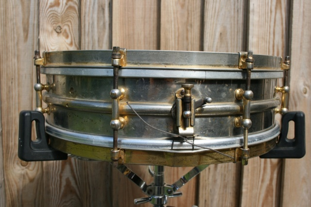 Ludwig 1920's 'All Gold' over Brass Standard Model 14x4 8-Lug