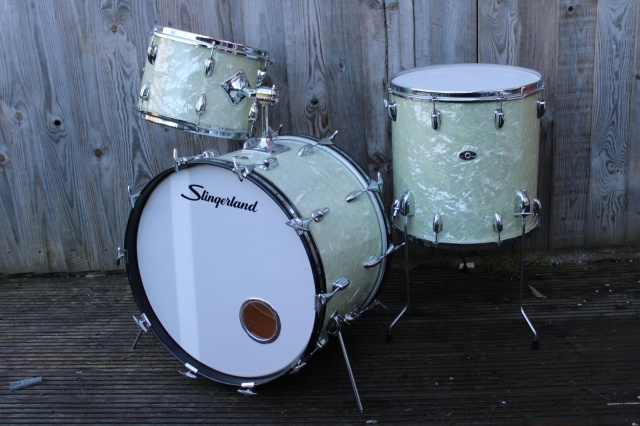 Slingerland Early '70's 'Deluxe' Outfit in White Marine Pearl