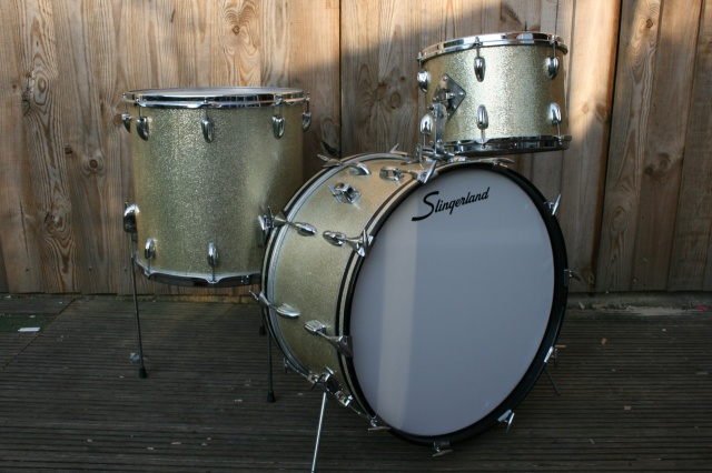 Slingerland 1959 'Gene Krupa Deluxe' Outfit in Silver Sparkle