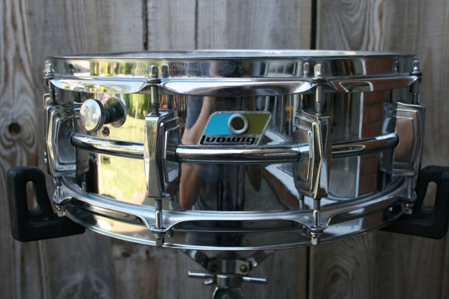 Ludwig Cut Badge late 70's Chrome over Brass Super 400