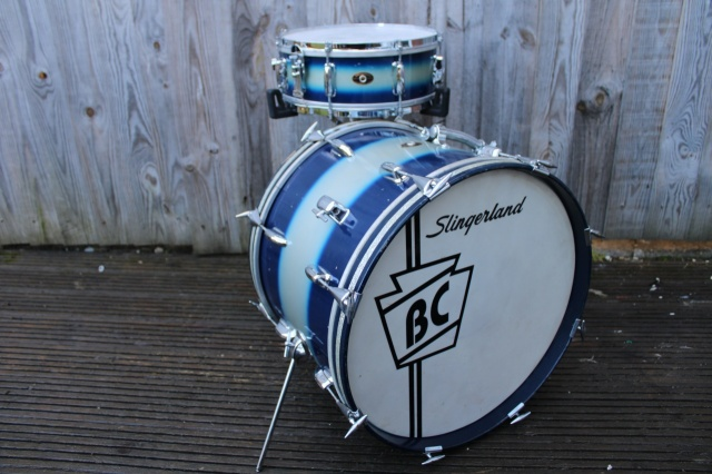 Slingerland 60's Jam Outfit in Blue Silver Duco