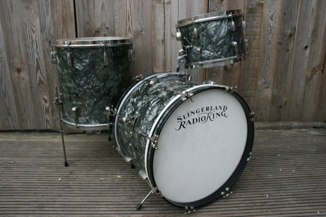 Slingerland 1950's Radio King 'Bebop' Outfit in Black Diamond Pearl