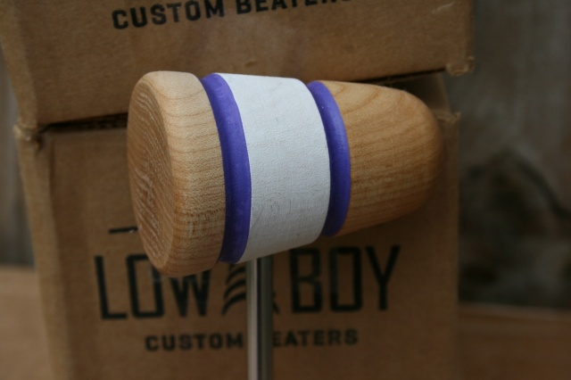 Low Boy Beaters 'Custom' Natural White Natural twin Purple Stripes