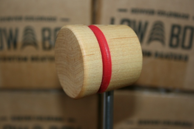 LowBoy Beaters Lightweight Natural with Red Stripe