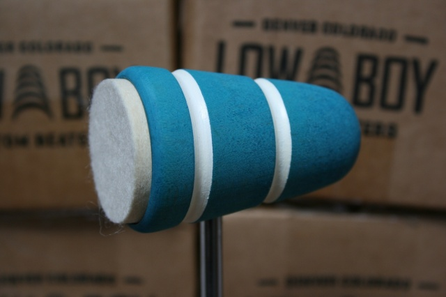 Low Boy Beaters 'Felt Daddy' Sea Foam twin White Stripes