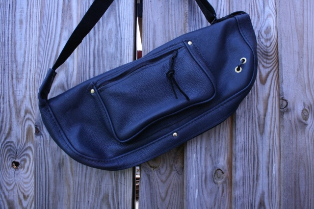 CacSac Gig Bags Blue Leather Stick Bag