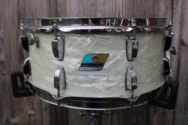 Ludwig 1971 'Symphonic' Model in White Marine Pearl