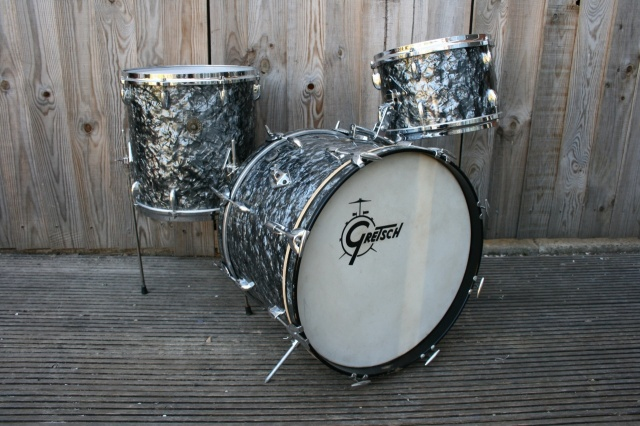 Gretsch '60's Round Badge 'Progressive Jazz' Outfit in Black Diamond Pearl