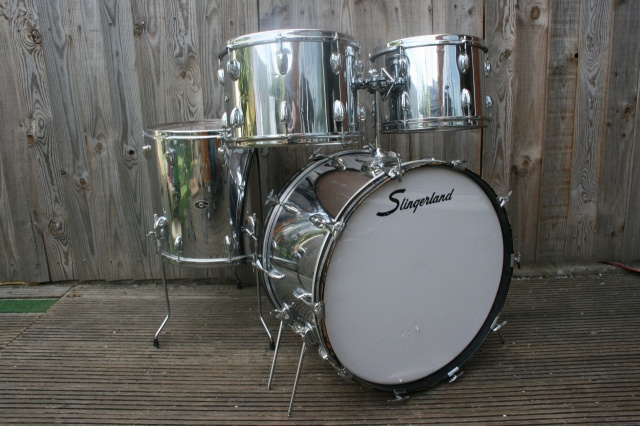Slingerland Early '70's 'Super Rock' Outfit Chrome over Wood
