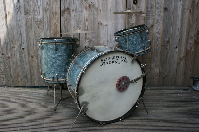 Slingerland Aluminium 'Cloud Badge' 1940's RadioKing Outfit