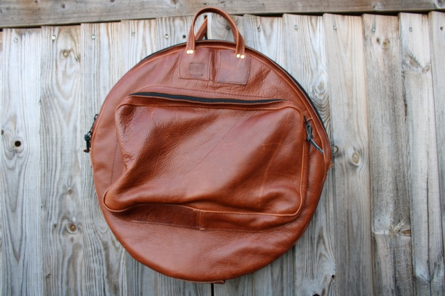 CacSac Gig Bags 24''Cymbal Bag in Mid Brown Leather