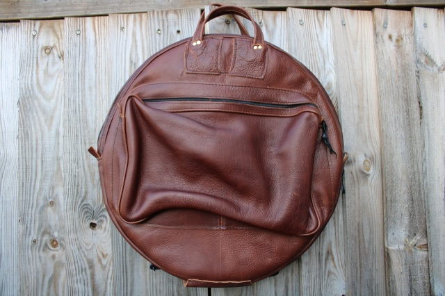 CacSac Gig Bags 24'' Leather Cymbal Bag in 'Heavy Grain' Brown