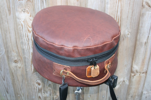 CacSac Gig Bags 14x5.5'' 'Distressed' Brown Leather Snare Bag