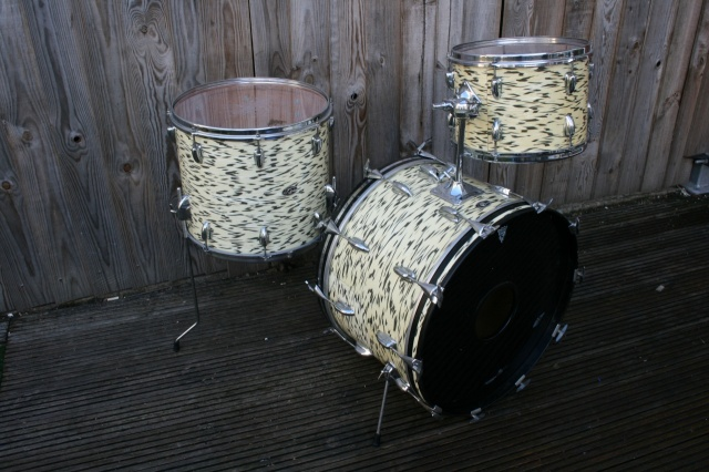 Slingerland 1970's GK Outfit in White Tiger