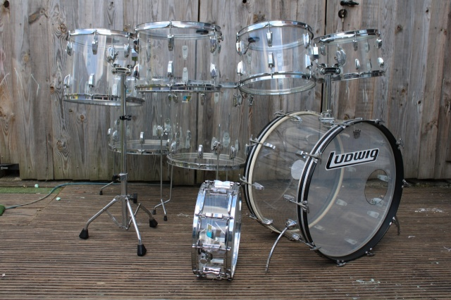 Ludwig 'Mid 70's Vistalite Pro Beat Outfit in Clear