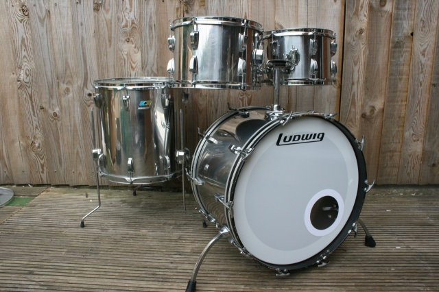 Ludwig Late 70's Stainless Steel Big Beat