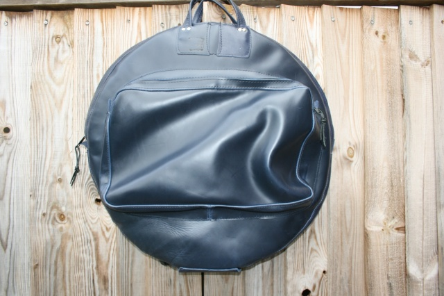 CacSac Gig Bags 24'' Blue Leather Cymbal Bag