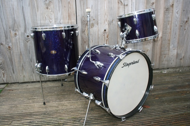 Slingerland 'Aug 66' Gene Krupa' Deluxe Outfit No. 1N in Purple Sparkle