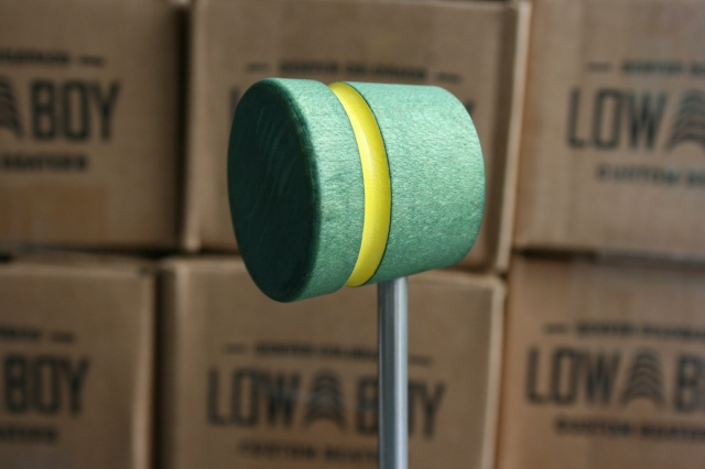 Low Boy Beaters Light Weight Green w/Yellow Stripe
