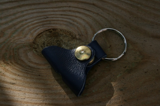 CacSac Gig Bags 'Blue' Leather Drum Key Fob