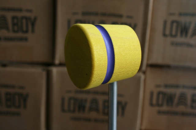 Low Boy Beaters 'Light Weight' Custom Yellow w/Purple Stripe