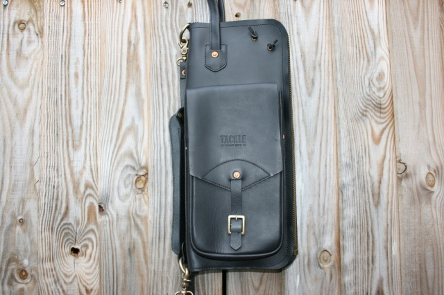 Tackle Instrument Supply Co Leather Stick Bag in Black
