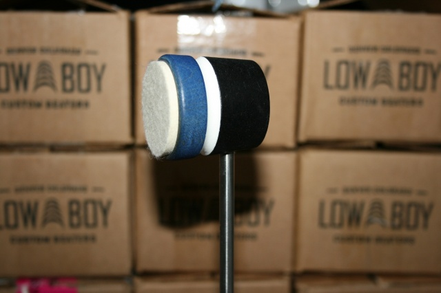 Low Boy Beaters Light Weight 'Felt Daddy' Custom Blue Black w/White Stripe