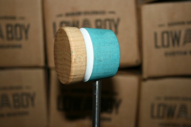 Low Boy Beaters 'Light Weight' Custom Sea Foam Natural w/ White Stripe