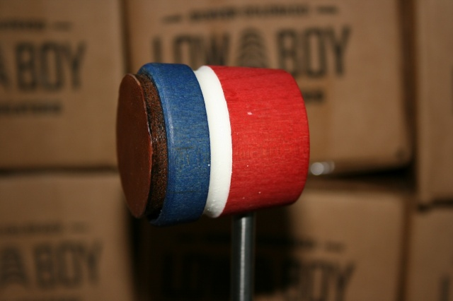 Low Boy Beaters Leather Daddy 'Light Weight' Blue Red w/White Stripe