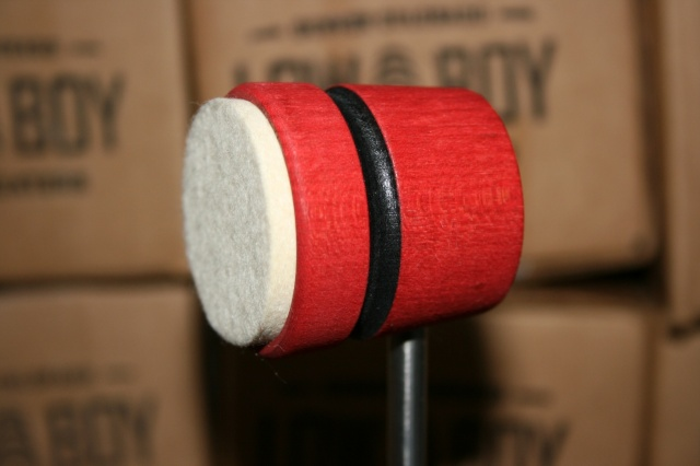 Low Boy Beaters Light Weight 'Felt Daddy' Red w/Black Stripe