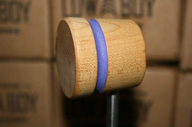 Low Boy Beaters Light Weight Natural w/Purple Stripe