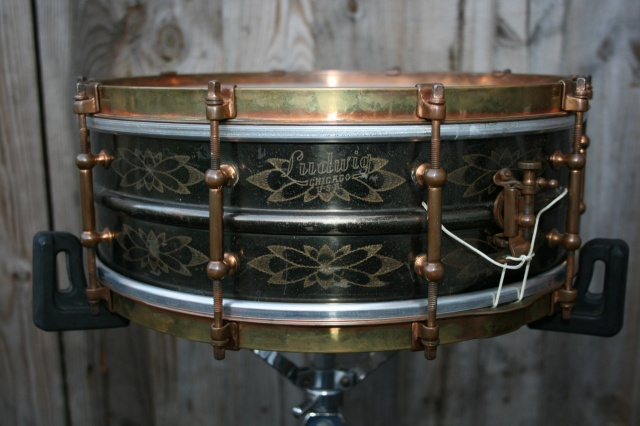 Ludwig 1920's De Luxe 'Ornamental' Model 'Black Beauty' 14x5