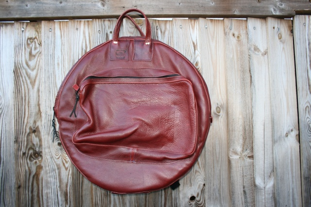 CacSac Gig Bags 24''  'Red-ish Brown' Leather Cymbal Bag