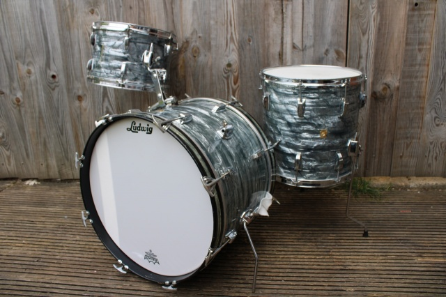 Ludwig Pre Serial DownBeat Outfit in Sky Blue Pearl