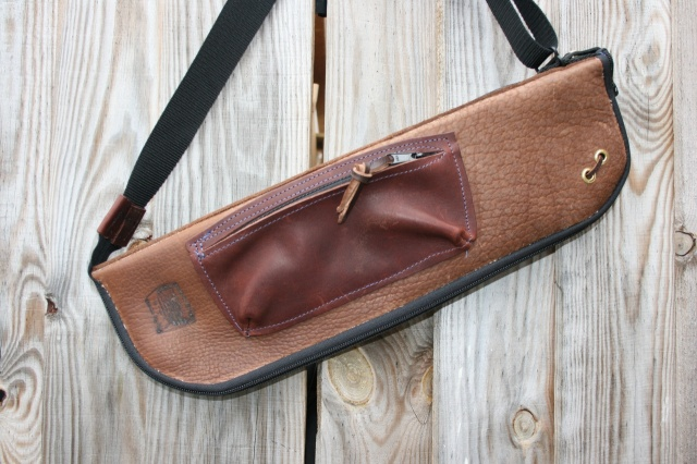 CacSac Gig Bags Streamline Stick Bag in Three Tone Brown Leather