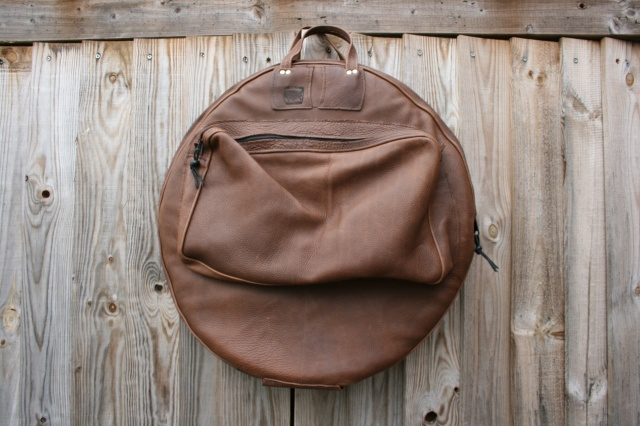 CacSac Gig Bags 24'' Leather 'Heavy Grain' Brown Cymbal Bag