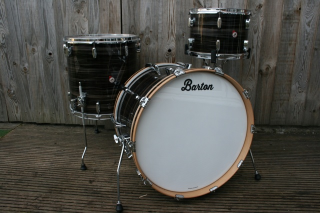 Barton Drum Co Vintage Beech 22 13 16 in Zebra Bartex