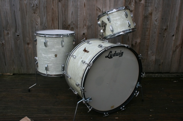 Ludwig Pre-Serial 'Apr13, 1961' Outfit in White Marine Pearl