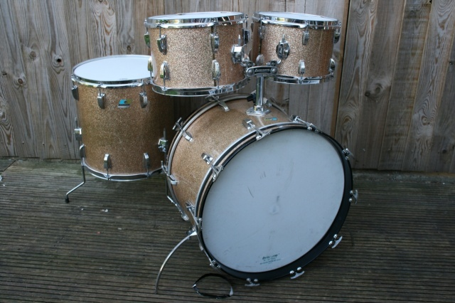 Ludwig Mid 70's 'Big Beat' Outfit in Champagne Sparkle
