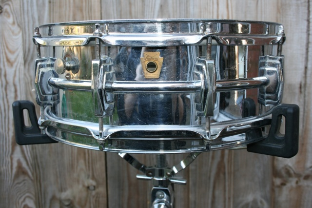 Ludwig Pre Serial Badge Chrome over Brass Super 400