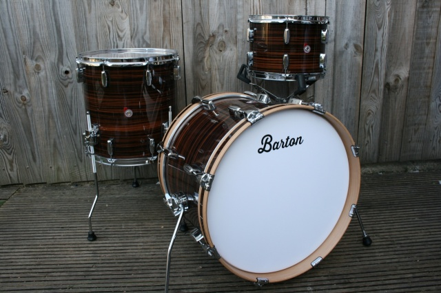 Barton Drum Co Vintage Beech 20 12 14 in Tiger Bartex