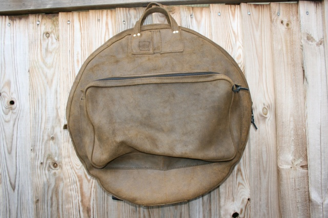 CacSac Gig Bags 24'' 'Super Distressed Brown' Leather Cymbal Bag
