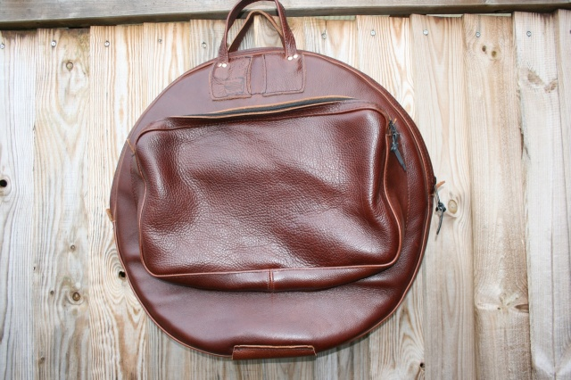 CacSac Gig Bags 24'' Heavy Grain Brown Leather Cymbal Bag