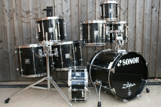 Sonor Hilite Outfit in Black Diamond Sparkle