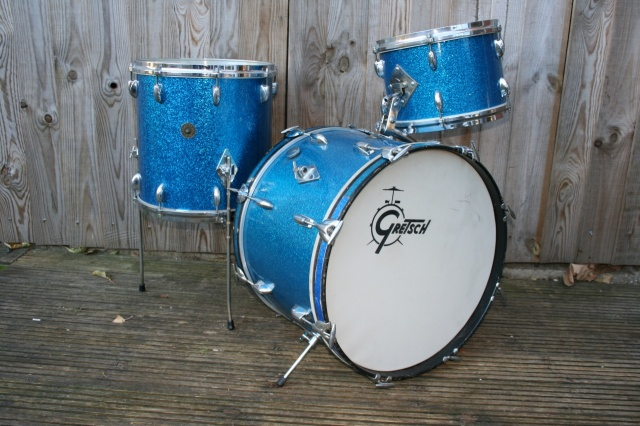 Gretsch Mid '60's Round Badge Blue sparkle Progressive Jazz Outfit